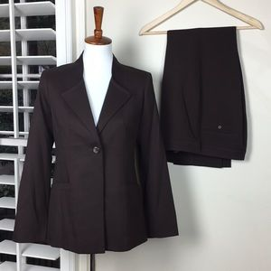 Pendleton pant suit brown virgin wool Sz 4